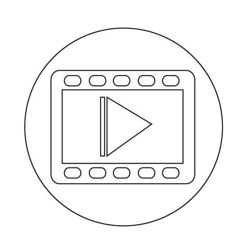 icona del film video vettore