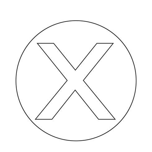 Annulla icona croce vettore