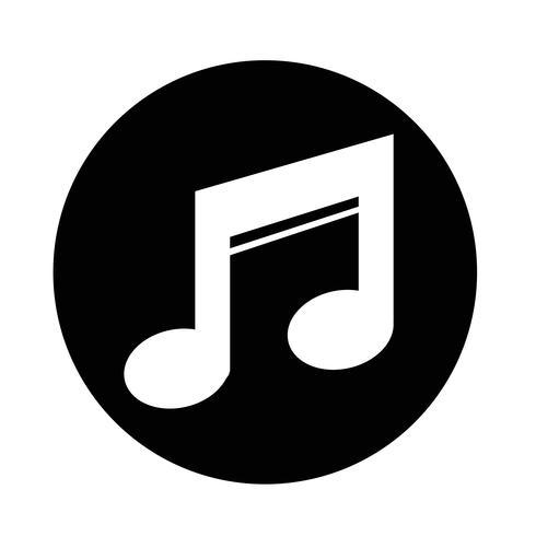 Icona della musica vettore
