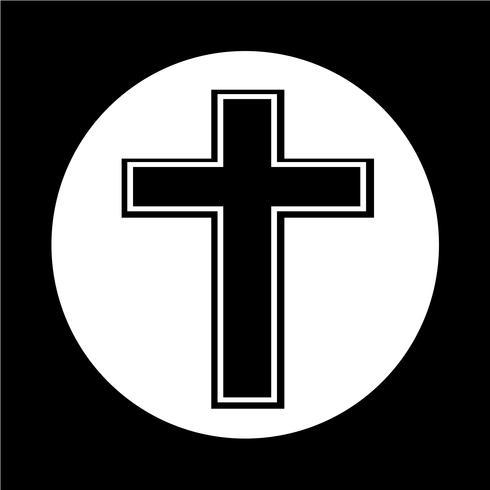 Icona croce religiosa vettore