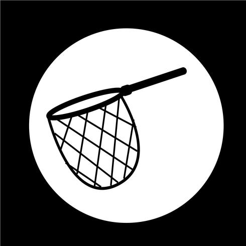 icona rete da pesca a caccia vettore