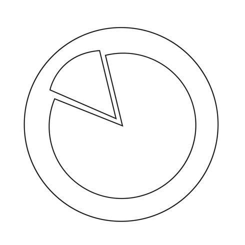 Icona del grafico semplice schema vettore