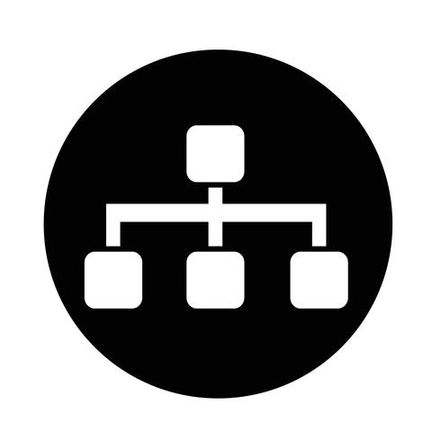 Icona struttura ad albero vettore