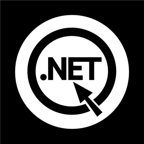 Icona del segno di dominio dot net vettore
