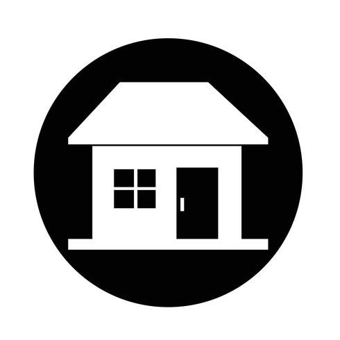 Icona casa immobiliare vettore