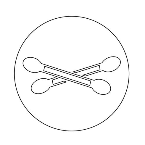 Icona del batuffolo di cotone vettore