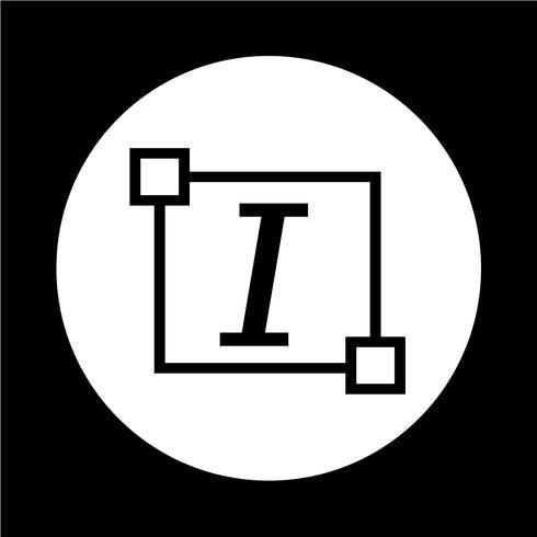 Icona di lettera di modifica del carattere del testo in corsivo vettore