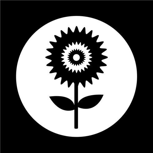 Icona di fiore vettore