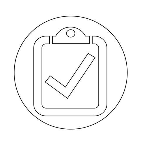 icona lista di controllo vettore