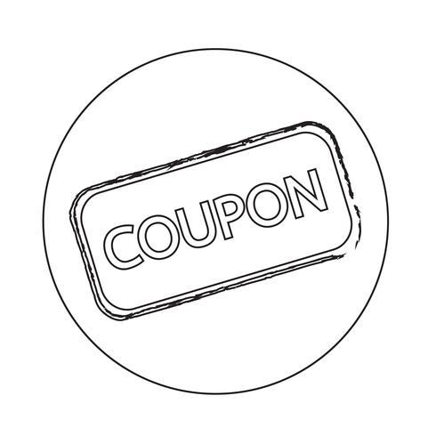 Icona coupon di sconto vettore