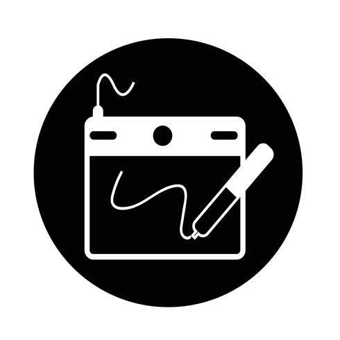 Icona del tavolo da disegno digitale vettore