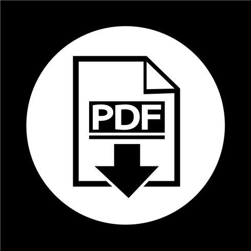 Icona PDF vettore