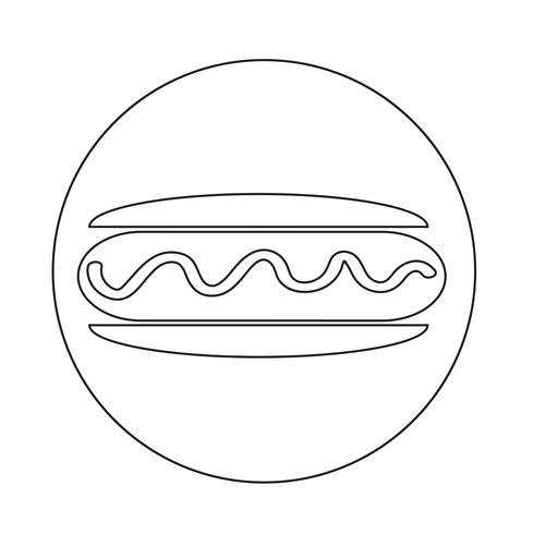 icona di salsiccia hot dog vettore