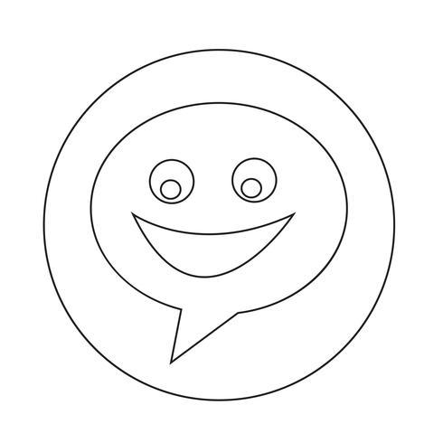 Icona di dialogo vettore