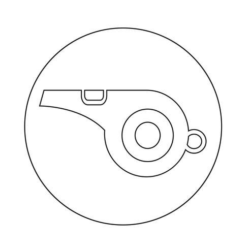 icona del fischio vettore