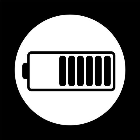 Icona simbolo della batteria vettore