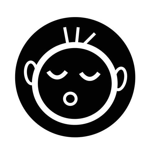 icona di bambino felice vettore