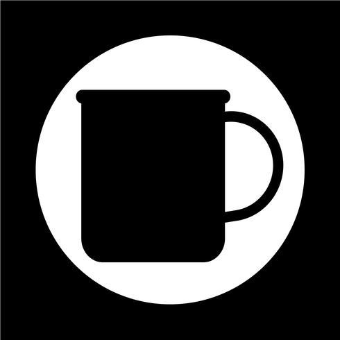 icona di tazza di tè e caffè vettore