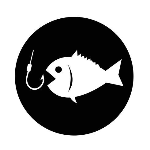 Icona di pesca vettore