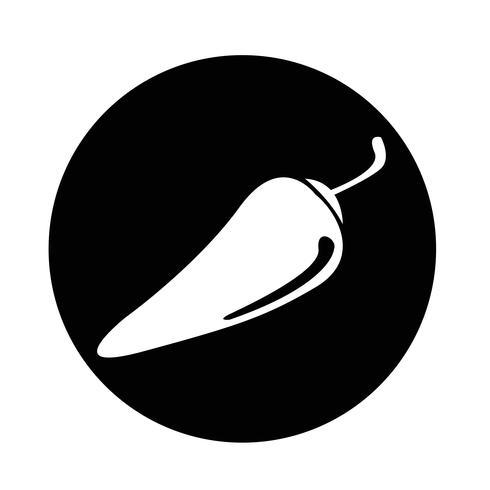 icona di peperoncino vettore