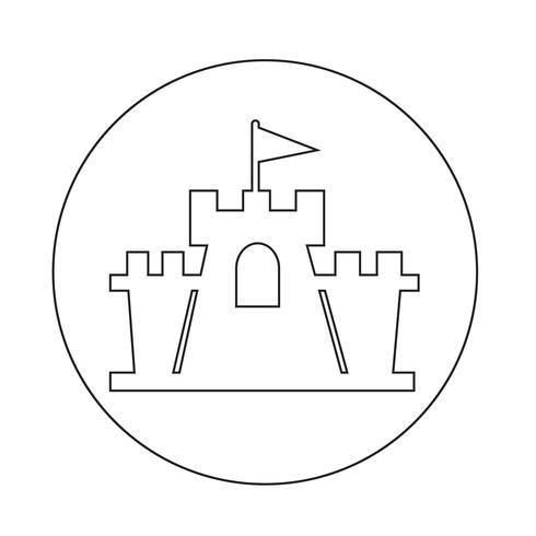 icona del castello vettore