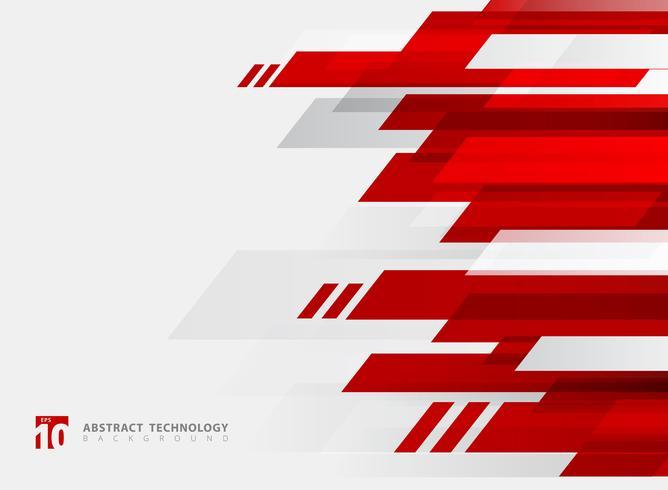 Fondo brillante di moto di colore rosso geometrico astratto di tecnologia. vettore