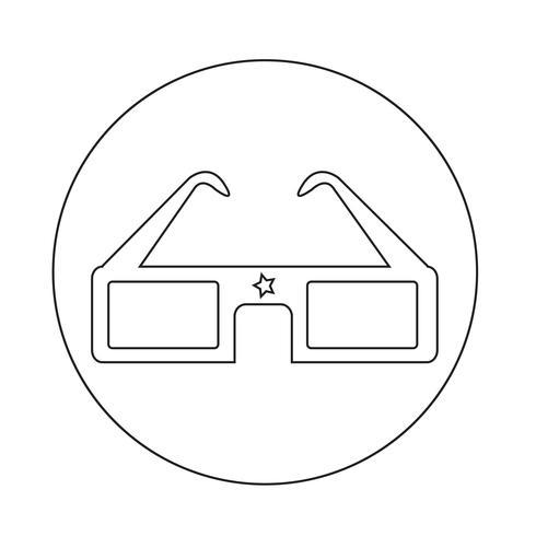 Occhiali cinema 3D vettore