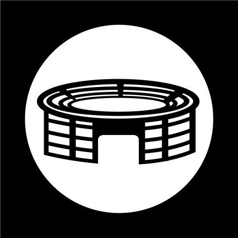 Icona dello stadio vettore