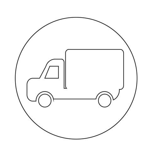 Icona del camion auto vettore