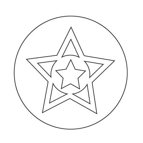 icona preferita di stelle vettore
