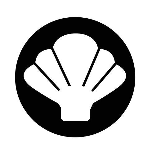 Icona di shell vettore
