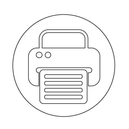 icona web fax vettore