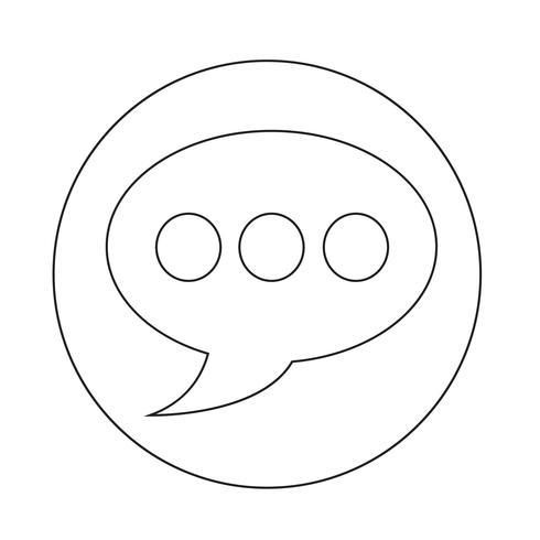 icona della bolla di discorso vettore