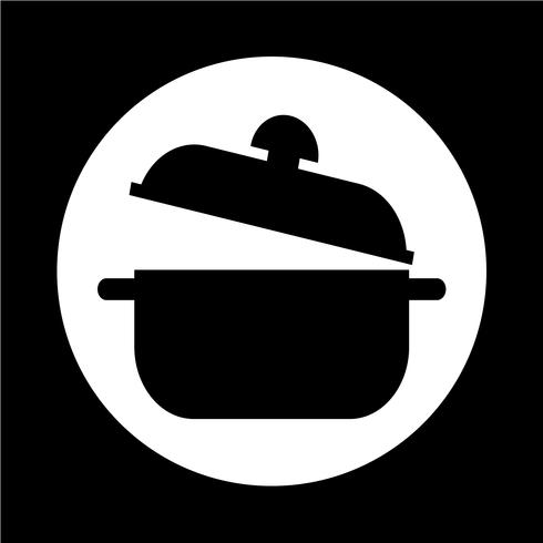 icona di casseruola vettore