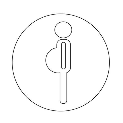Icona della donna gravidanza vettore