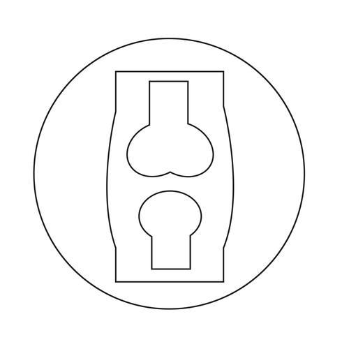 icona dell'osso vettore