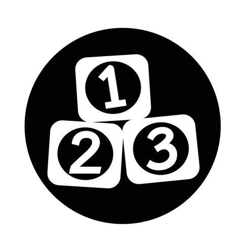 Icona di 123 blocchi vettore
