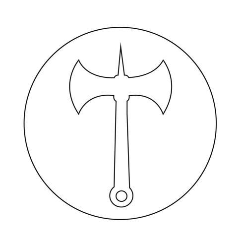 icona dell'ascia vettore