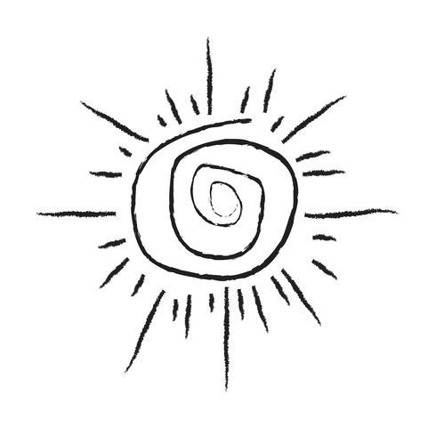 Segno dell'icona del sole vettore