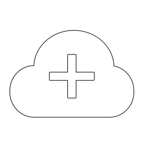 Segno dell'icona di nuvola vettore