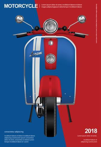 Illustrazione di vettore isolata motociclo d'annata