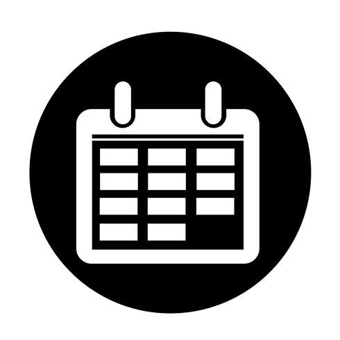 Segno dell'icona del calendario vettore