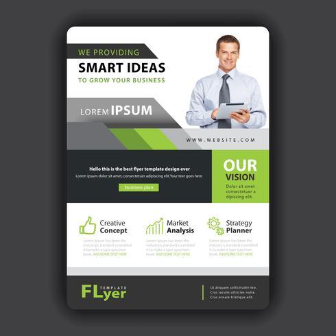 design flyer aziendale di forma verde vettore