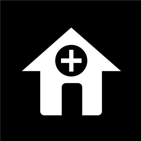 Segno dell'icona di ospedale vettore