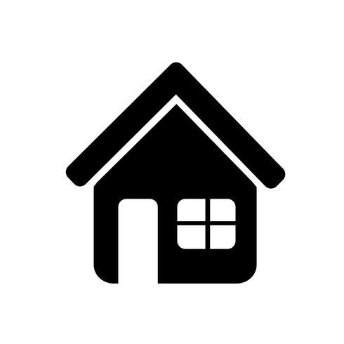 Segno dell'icona di casa vettore