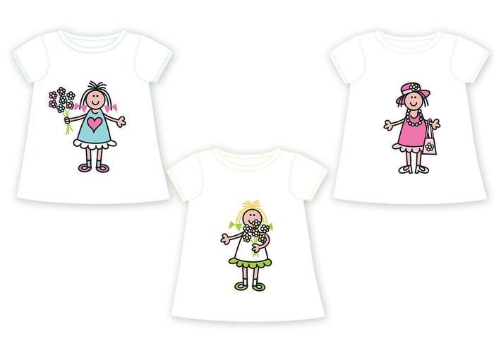 Pacchetto di t-shirt per bambini vettore