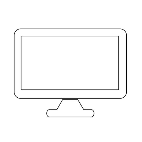 Icona del desktop computer vettore