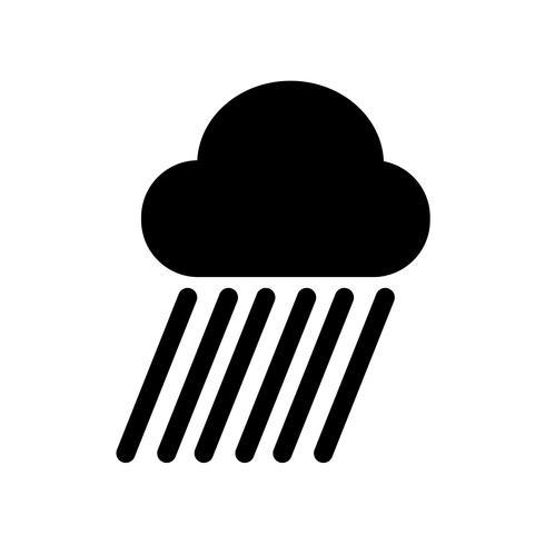 Icona della pioggia vettore