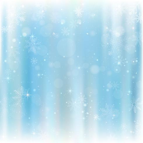 Priorità bassa astratta di natale con i fiocchi di neve. Sfondo blu elegante inverno vettore