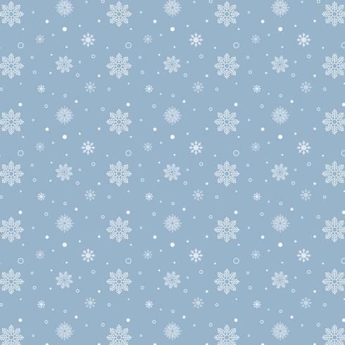 Modello di fiocchi di neve blu. Modello bianco dei fiocchi di neve su fondo blu vettore